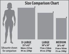 Microfiber Towel Size Chart
