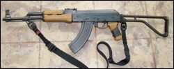 AK47 with SSDII on the front and rear attachment points left side of weapon