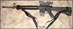 M16A2AR15 with TRAS under mount and service stock configuration
