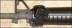 M16A2AR15 with TRAS under mount and service stock configuration without sling on