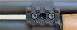 3 slot rail shown on a BMT Mountl