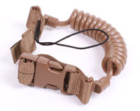 Cetacea Pistol Lanyard for Basic Belt Loop- Coyote tan