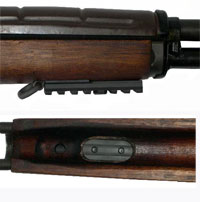 Sadlak Industries M14/M1A Heavy Duty Front Rail with Internal Nutplate Shown with an aditional  3 slot rail