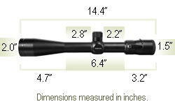 Vortex Viper 6.5-20x44 PA Riflescope - Mil Dot Reticle
