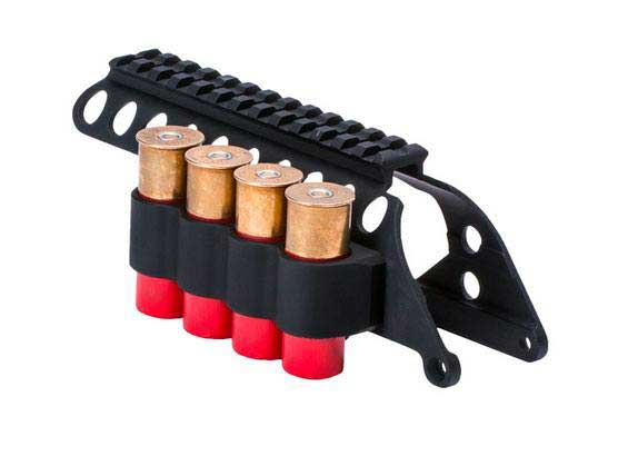 Mesa Tactical SureShell® Carrier and Saddle Rail for Remington 870  (4-Shell, 12-GA, 5 in)