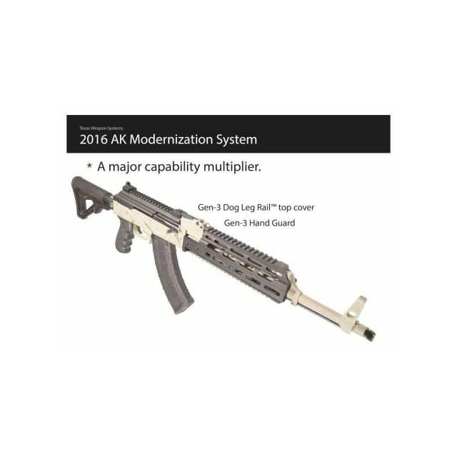 TWS Dog Leg Rail, Gen-III - Yugo AK/RPK Top Cover & Scope Mount