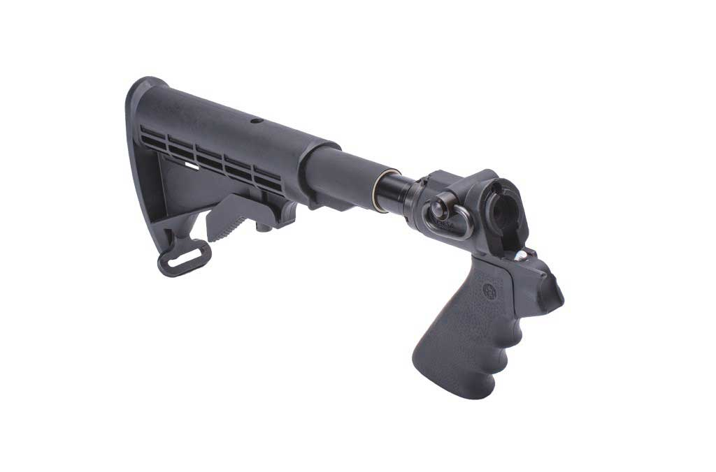 Mesa Tactical LEO® Telescoping Hydraulic Recoil Stock Kit for Mossberg 500  (12-GA and 20-GA)